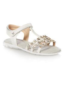 Girls White Fashion Sandal