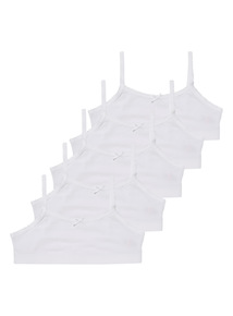 White Crop Tops 5 Pack (6 - 12 years)
