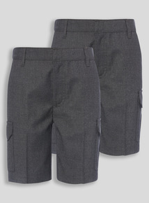 Grey Cargo Shorts 2 Pack (2 - 12 years)