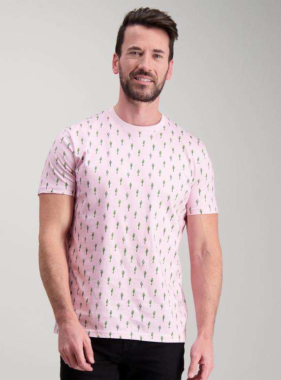 Menswear Light Pink Cactus T Shirt Tu Clothing