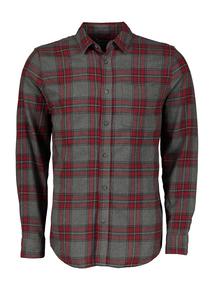 Grey & Red Tartan Regular Fit Shirt