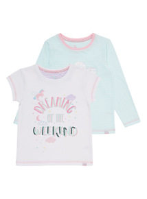 White Two Pack Dreamy Tees (3-13 years)