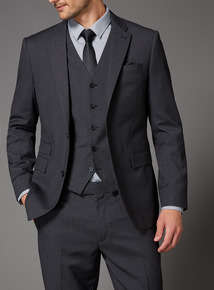 Charcoal Dogtooth Suit Jacket
