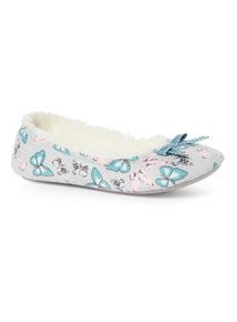 Multicoloured Butterfly Ballerina Slippers
