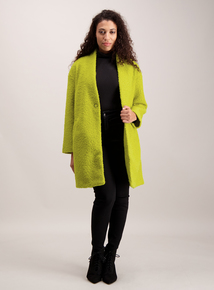 Lime Green Bouclé Coatigan