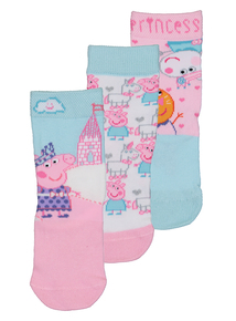 Peppa Pig Multicoloured Socks 3 Pack (3-12 Infant)