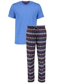 Blue Fairisle Christmas Pyjamas