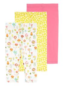 Floral Leggings 3 Pack (0 - 24 months)