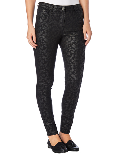 Womens Black Patterned Skinny Jeans | Tu clothing