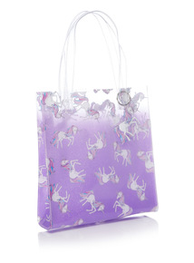Multicoloured Unicorn Ombre Print Tote Bag