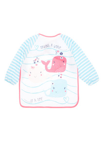 Girls Pink Whale Bib