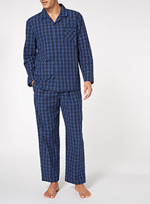 Blue Check Traditional Pyjamas Set
