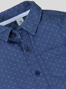 Blue Geometric Print Shirt (3-14 years)