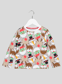 Christmas Multicoloured Long-Sleeved Novelty Top (9 Months - 6 Years)