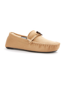 Stone Thinsulate Moccasin Slippers