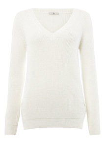 White Cross Panel Jumper
