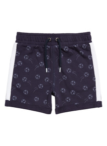 Blue Football Print Shorts (9 months-6 years)