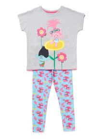 Multicoloured Trolls Pyjama Set (3-14 years)