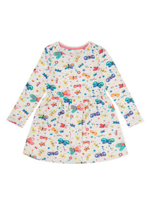 Girls Cream Butterfly Dress (9 months-6 years)