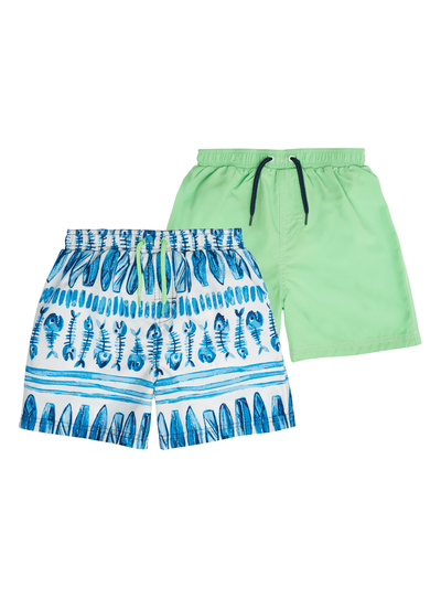 6b395147a3 Kids Boys Multicoloured Print Swim Shorts 2 Pack (3 months- 12 years) | Tu  clothing