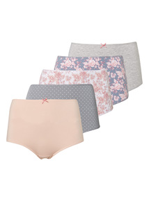 Patterned Full Briefs 5 Pack