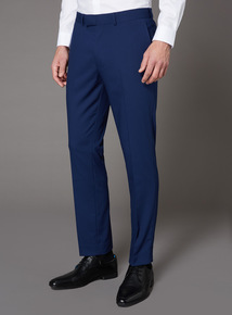 Online Exclusive Cobalt Blue Stretch Suit Tailored Fit Trousers