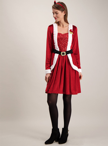 Online Exclusive Christmas Red Mrs Santa Costume (Size 8 - 22)