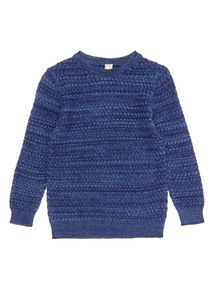 Navy Twisted Knit Jumper (3-14 years)