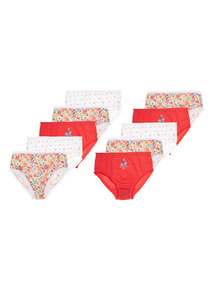 Multicoloured Floral And Butterfly Briefs (18 months - 12 years)