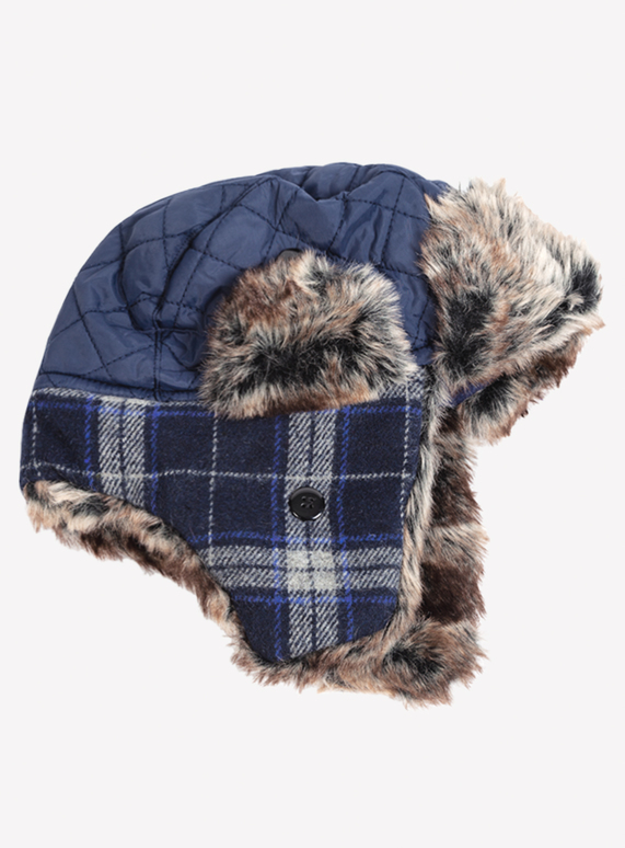 4a9f162376c2e Kids Navy Trapper Hat (3 -13 years)