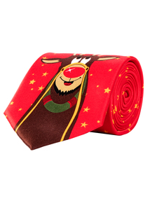 Christmas Red Rudolph Tie