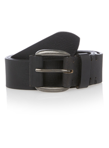 Black PU Casual Belt