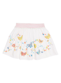 White Butterfly Embroidered Skirt (9 months - 6 years)