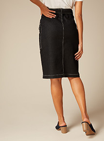 Premium Denim Utility Skirt