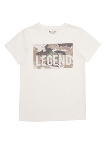 Boys Cream Camouflage Tee (4 - 14 years)