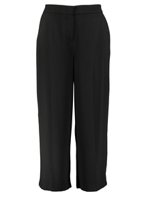 Black Wide Leg Sparkle Detail Trousers