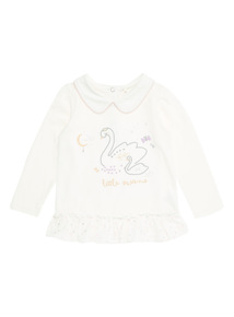 Cream Swan Tee (Newborn-12 months)