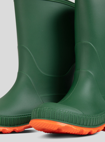 Green Reflective Wellies (6 Infant-4 Child)