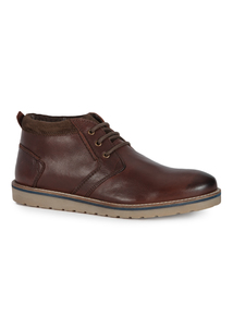 Brown Sole Comfort Lace Up Boots