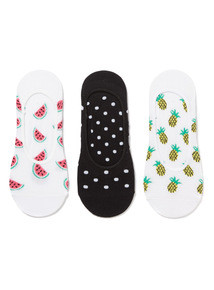 3 Pack Pineapple Footsies