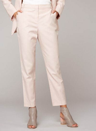 Premium Linen Blend Tapered Trousers