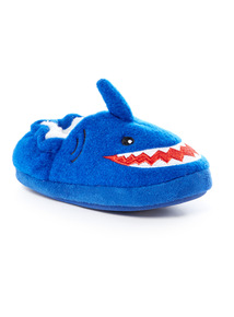 Blue Shark Novelty Slippers (4 Infant-4 Child)