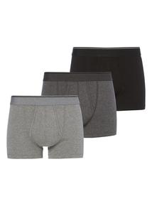 Grey Mix Stretch Trunks 3 Pack