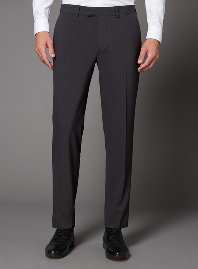 Charcoal Melange Slim Fit Stretch Suit Trouser