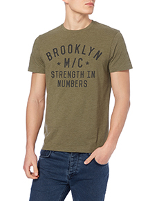 Khaki Brooklyn Graphic Tee
