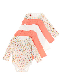 Multicoloured Five Pack Woodland Bodysuit (0-3 years)