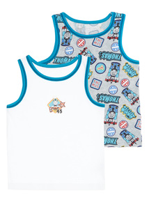 Boys Blue Thomas The Tank Vests 2 Pack (18 months - 5 years)