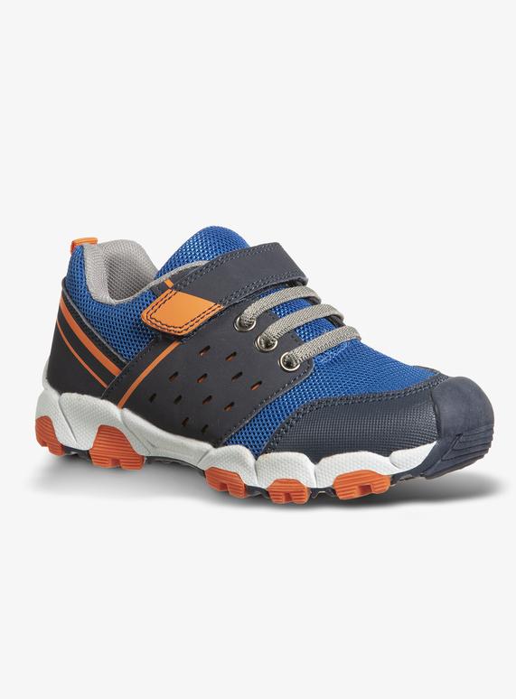 dcb44d23a6e0ac Kids Blue   Orange Chunky Sole Hiker Trainers (Infant 10-6)