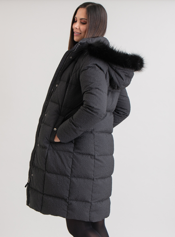 caefd0558eb6 Womens Online Exclusive Premium Black Faux Fur Hooded Coat