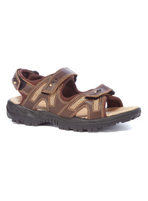 Sole Comfort Brown Leather Sandals